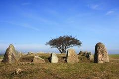 Sepulcro de piedra megalítico Fotografía de archivo libre de regalías