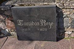 Sepulcro de Turaida Rose Foto de archivo libre de regalías