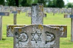 Sepulcro de un soldado judío, Francia Foto de archivo libre de regalías