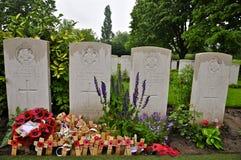 Sepulcro de VJ Strudwick, cementerio de la granja de Essex imágenes de archivo libres de regalías
