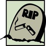 Sepulcro que fuma ilustración del vector