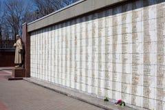Sepulcro total para los soldados en Lipetsk Imágenes de archivo libres de regalías