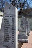 Sepulcro total para los soldados en Lipetsk, Rusia Imagen de archivo libre de regalías