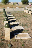 Sepulcros en el cementerio soviético de Rossoshk Stalingrad, Rusia foto de archivo libre de regalías