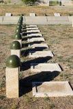 Sepulcros en el cementerio soviético de Rossoshk Stalingrad, Rusia imagen de archivo