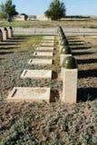 Sepulcros en el cementerio soviético de Rossoshk Stalingrad, Rusia fotos de archivo libres de regalías