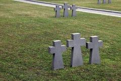 Sepulcros militares alemanes, cementerio de Mirogoj en Zagreb fotografía de archivo