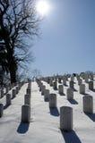 Sepulcros militares en un día de invierno Foto de archivo