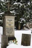 Sepultura da família Mozart - Salzburg, Áustria Imagens de Stock