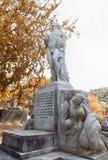 Sepultura de Henry Edmund Holland, rua Memorial Park de Bolton, Nova Zelândia Imagens de Stock Royalty Free
