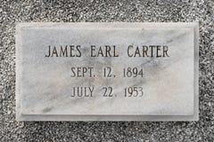 Sepultura de James Earl Carter fotos de stock royalty free