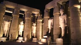 Sepultura de Luxor no vídeo completo da noite HD vídeos de arquivo