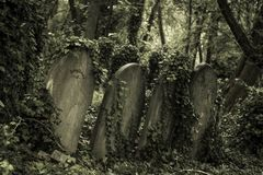sepultura de pedra velha imagens de stock