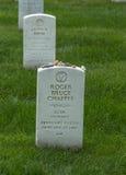 Sepultura de Roger Chafee, astronauta anterior da NASA, no cemitério nacional de Arlington Imagem de Stock