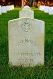 Sepultura de soldado confederado desconhecido foto de stock