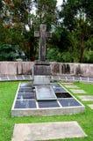 Sepultura do membro do rajá branco da família de Brooke do forte Margherita Kuching Malaysia de Sarawak fotos de stock