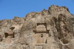 Sepultura do rei Daeiros perto de Persepolis Imagem de Stock