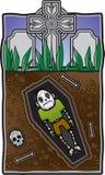 Sepultura do zombi ilustração stock
