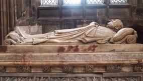 Sepultura na catedral de Manchester, Inglaterra foto de stock