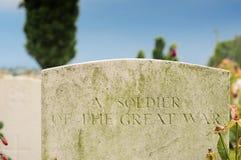Sepultura se soldado desconhecido, berço de Tyne, Passchendaele foto de stock