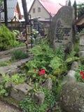 Sepultura velha em Zakopane, Polônia imagens de stock