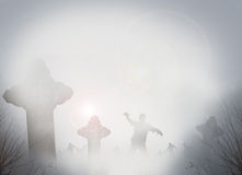 Sepulturas assustadores Imagem de Stock Royalty Free