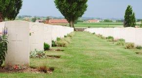 Sepulturas, cemitério do berço de Tyne, Passchendaele imagem de stock royalty free
