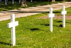 sepulturas dos soldados desconhecidos que morreram para França durante a segunda guerra mundial Imagens de Stock