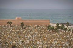 Sepulturas muçulmanas do cemitério Rabat, Marrocos Fotografia de Stock