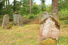 Sepulturas no cemitério judaico fotos de stock