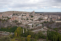 Sepulveda. Overview of Sepulveda, in the province of Segovia, Spain Royalty Free Stock Photo