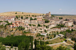 Sepulveda City. Overview of Sepulveda, in the province of Segovia, Spain Royalty Free Stock Photography
