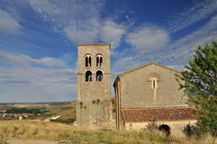 Sepulveda: main church, Castile region. Spain Stock Photos