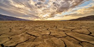 Seqúese lakebed en parque de estado del desierto de Anza Borrego Fotografía de archivo libre de regalías