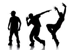Seqüência do dançarino de Hip Hop Fotos de Stock Royalty Free