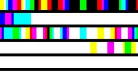 Sequência colorida de piscamento aleatória do ` dos pixéis ilustração stock