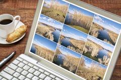 Sequência do lapso de tempo de imagens aéreas Foto de Stock
