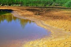 Sequía del lago drying fotos de archivo