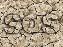 Sequía el SOS Foto de archivo