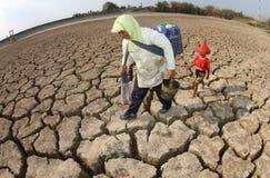 Sequía en Indonesia Imágenes de archivo libres de regalías