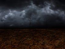 Sequía en la tierra en el futuro Imagen de archivo libre de regalías