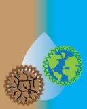 Sequía y papel pintado húmedo libre illustration
