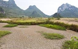 Sequía en las granjas del arroz Imagenes de archivo