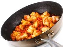 Seque camarões fritados Imagens de Stock Royalty Free