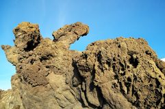 Seque Lava Rocks endurecido foto de stock