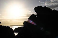 Seque Lava Rocks endurecido imagens de stock