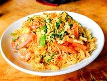 Seque los tallarines inmediatos, cocina del asiático del estilo de Vietnam Fotografía de archivo