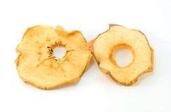 Seque a maçã vermelha cortada no fundo branco Imagens de Stock Royalty Free