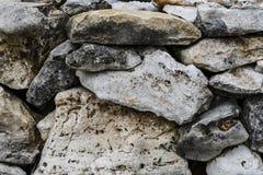 Seque a parede da rocha da pilha Fotos de Stock