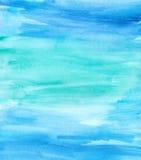 Seque Teal Watercolor azul escovado ilustração royalty free